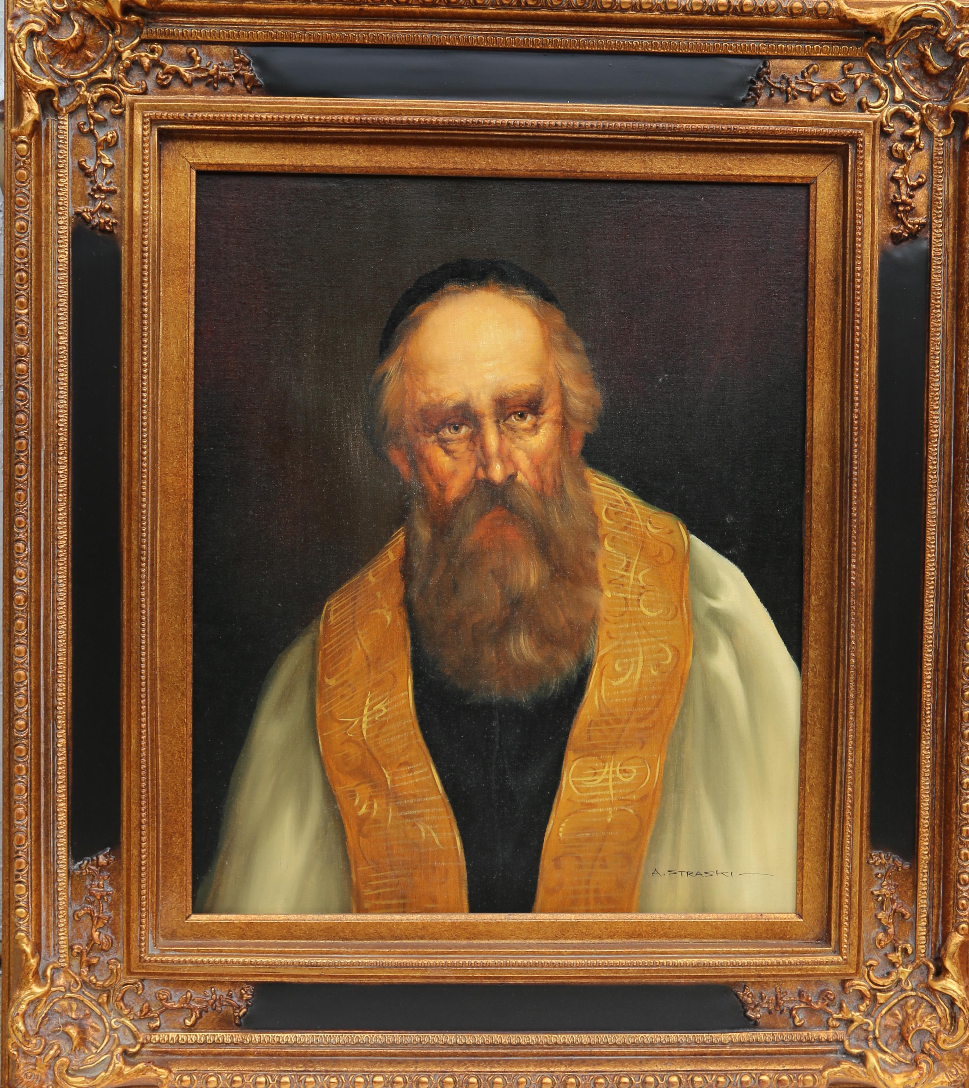 Rabbi, Oil Painting by Abraham Straski