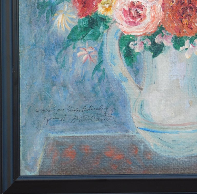 Abraham Walkowitz Modernist Floral Still-Life Painting, circa 1915-1920 In Excellent Condition For Sale In Phoenix, AZ