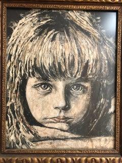 Abraham Rattner Child Mixed Medium Painting