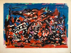 Large American Abstract Expressionist Bold Colorful Lithograph Proof Print