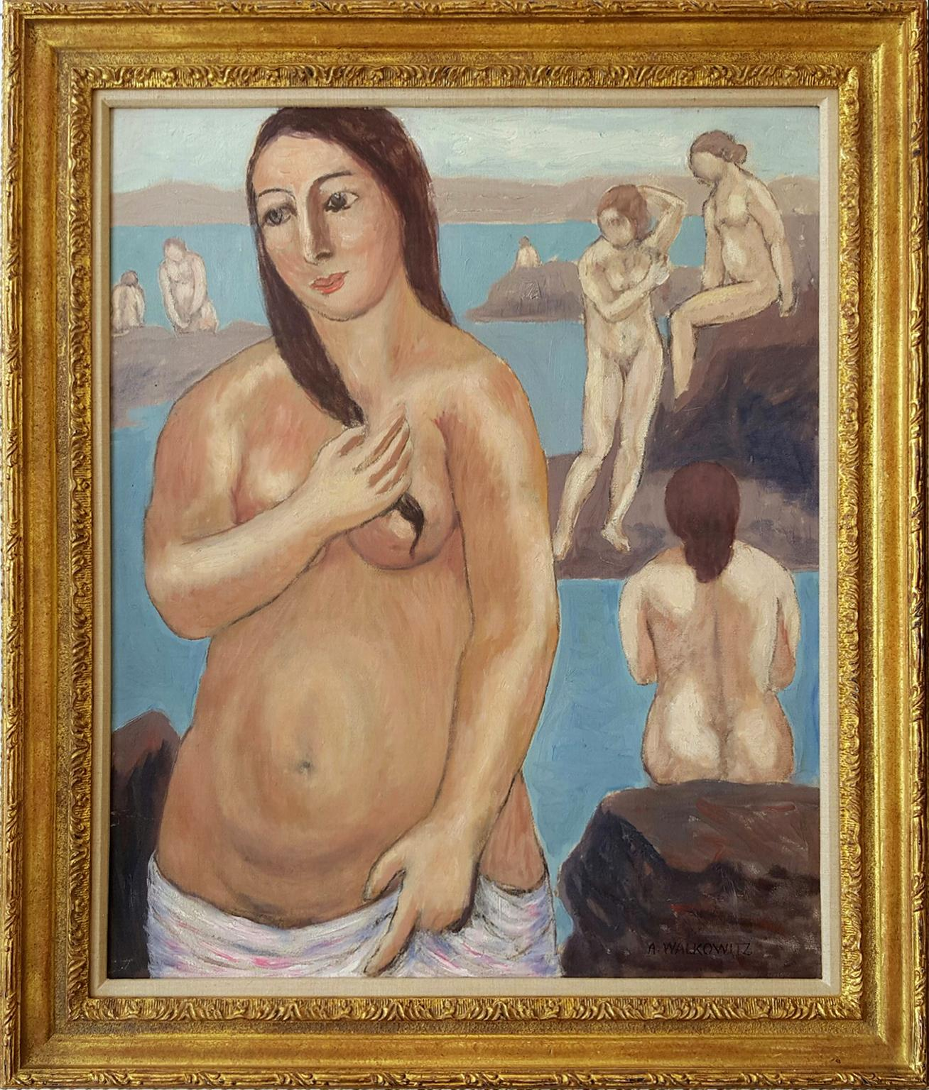 Museum Quality, Nude with Pink Towel