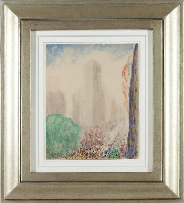 New York - Painting by Abraham Walkowitz