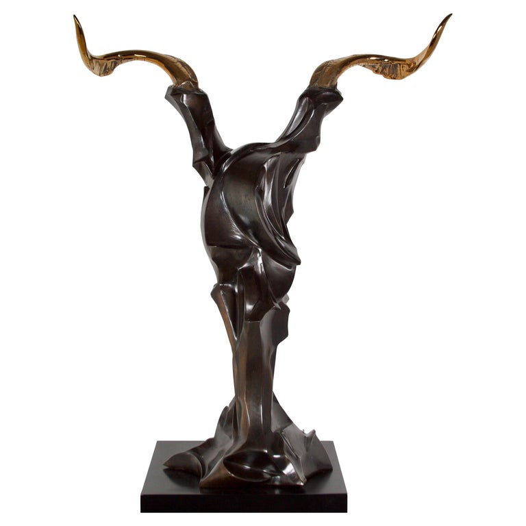 """"""" The Bull""""  an important  abstract bronze by  artist """"Adam Gale"""" For Sale"""