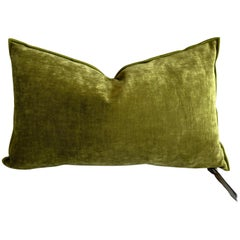 Absinthe French Velvet Lumbar Pillow