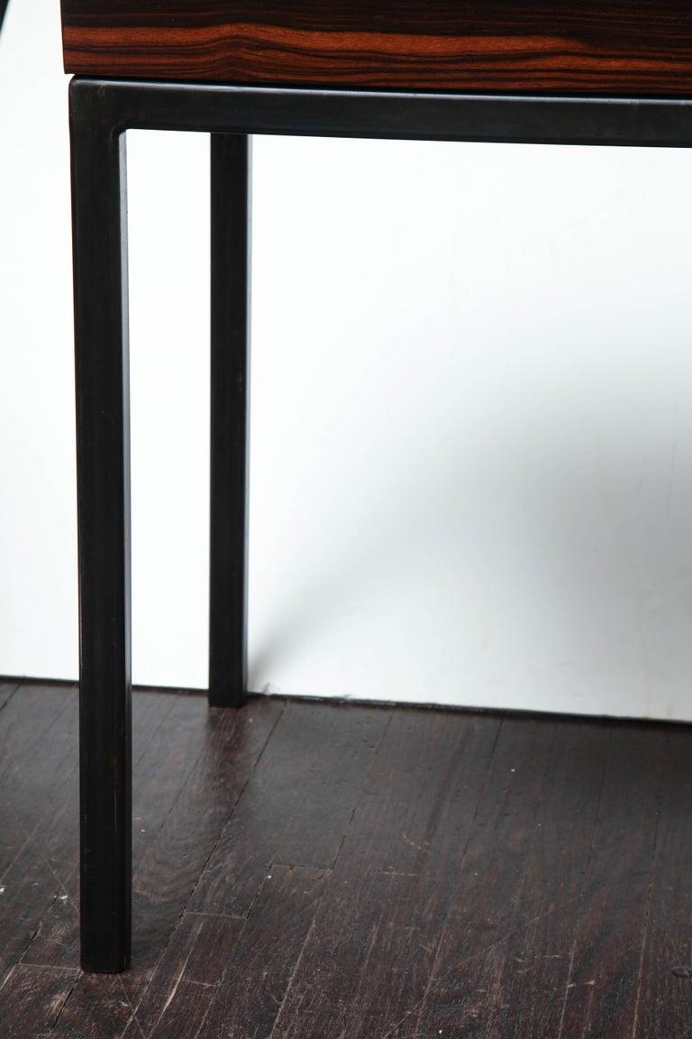 American Absolute Black Granite Side Table For Sale