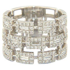 Absolutely Fantastic Gabriel & Co Diamond Band at 1.35CTW in 14K White Gold, New