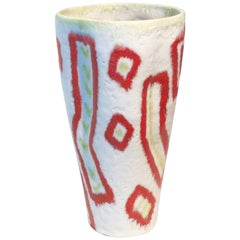 Abstract 1950s Ceramic Vase by Guido Gambone