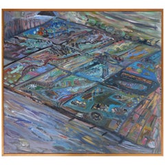 Abstract Acrylic on Canvas by American Artist Warren Fischer '1943-2001'