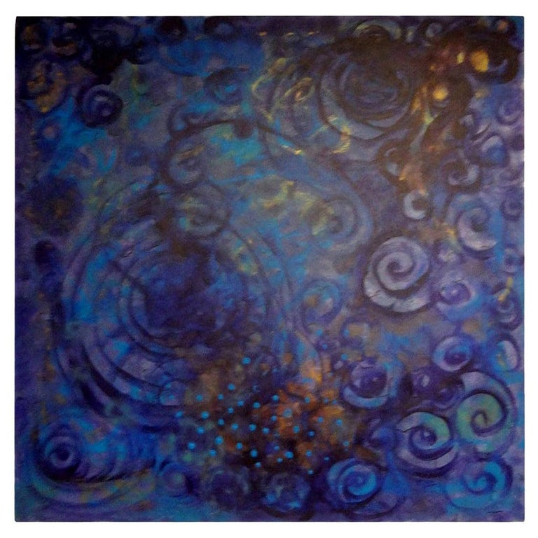 Abstract Acrylic on Canvas by Javier Barrionuevo For Sale