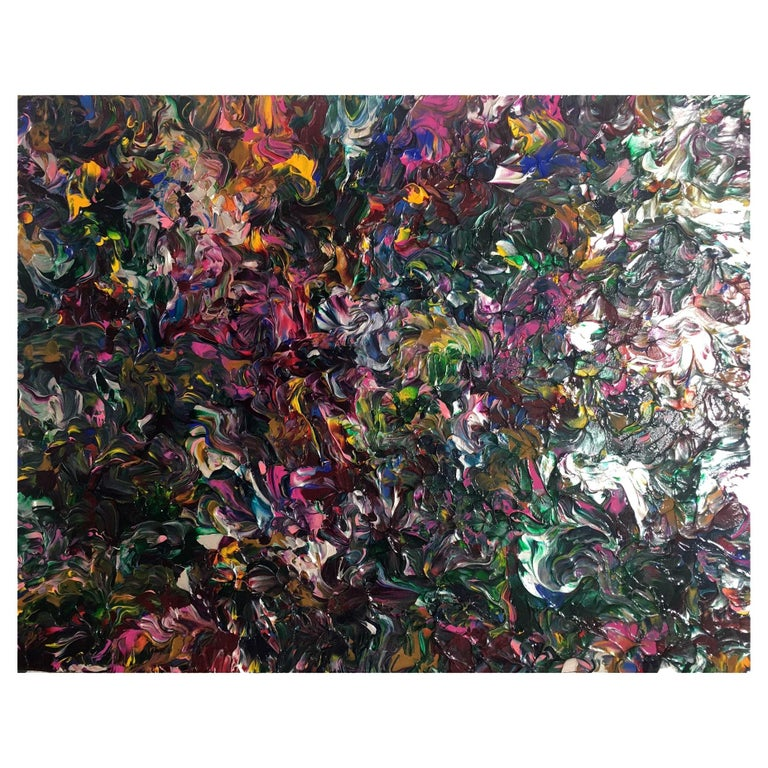 """Abstract Acrylic on Canvas Painting """"She Presumed"""" by Alexander Hecht For Sale"""