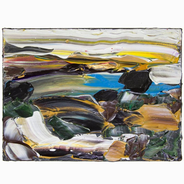 Canadian Abstract Acrylic 'Siesta Sunrise Big Sur' Acrylic on Canvas Painting For Sale