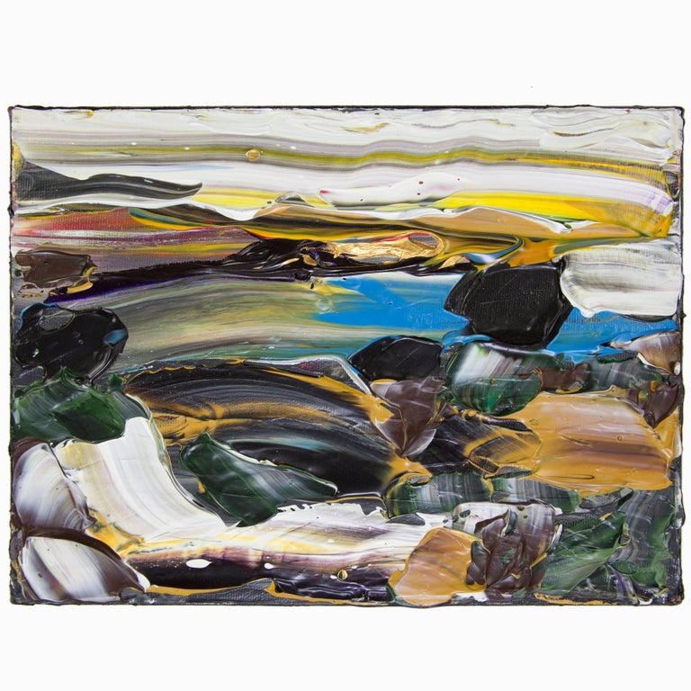 Abstract Acrylic 'Siesta Sunrise Big Sur' Acrylic on Canvas Painting For Sale