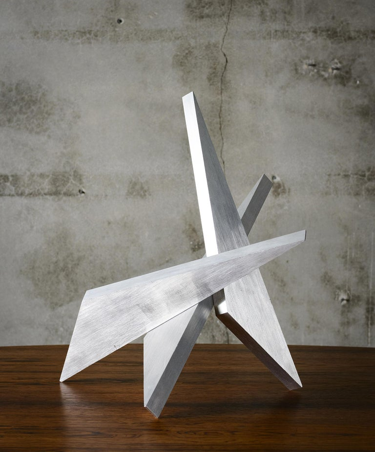 American Abstract Aluminum Sculpture by Larry Mohr For Sale