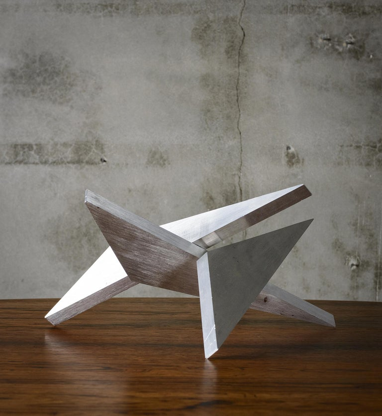 Abstract Aluminum Sculpture by Larry Mohr In Good Condition For Sale In Los Angeles, CA