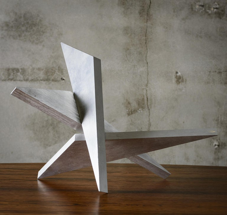 20th Century Abstract Aluminum Sculpture by Larry Mohr For Sale