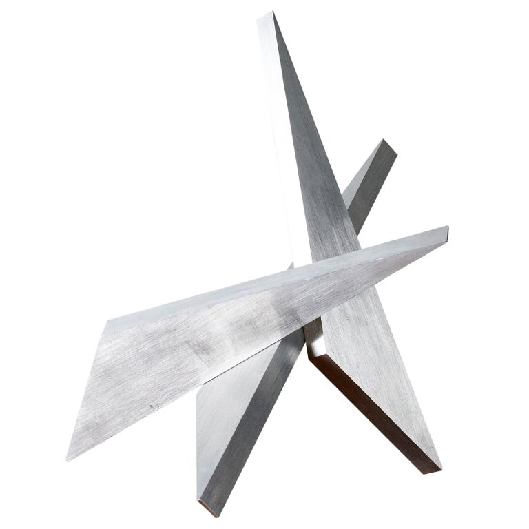Abstract Aluminum Sculpture by Larry Mohr For Sale
