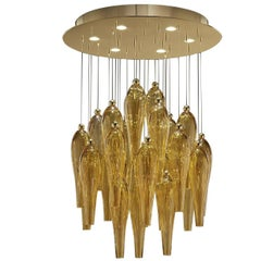 Abstract Amber Ceiling Lamp