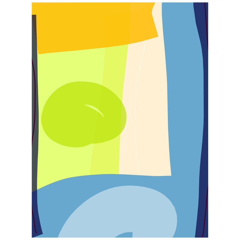 """Abstract Archival Digital Fine-Art Print, William P. Montgomery, """"Overlap"""" For Sale"""