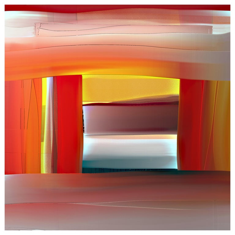 """Abstract Archival Digital Fine Art Print, William P. Montgomery, """"Overlap"""" For Sale"""