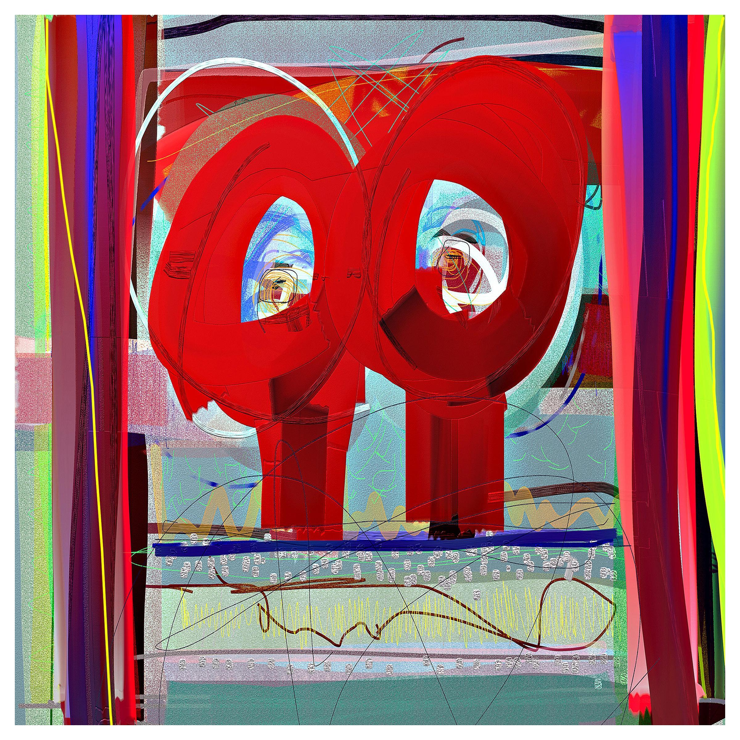 "Abstract Archival Digital Fine-Art Print, William P. Montgomery, ""Walkie Talkie"