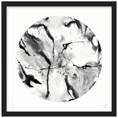 Abstract Art Print by 17 Patterns, Whirling Dervish Circle White