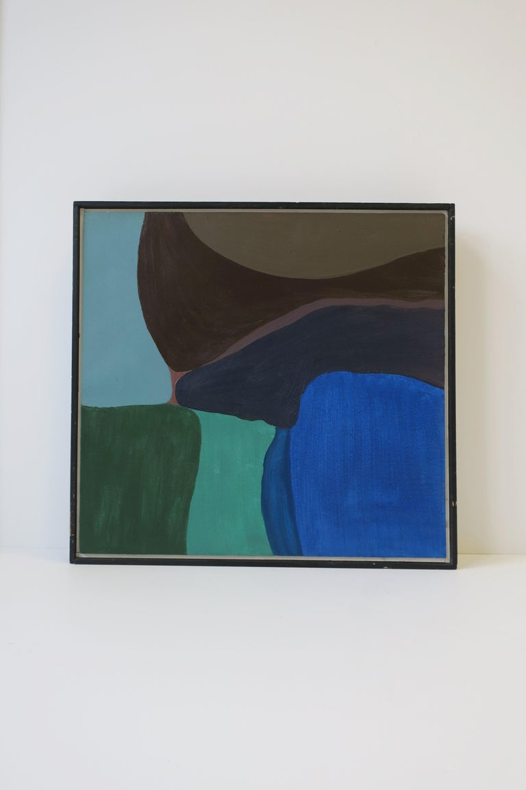 American Abstract Oil Art Work Painting 'Warm Way' by Steven Dahlstrom, circa 1980s For Sale