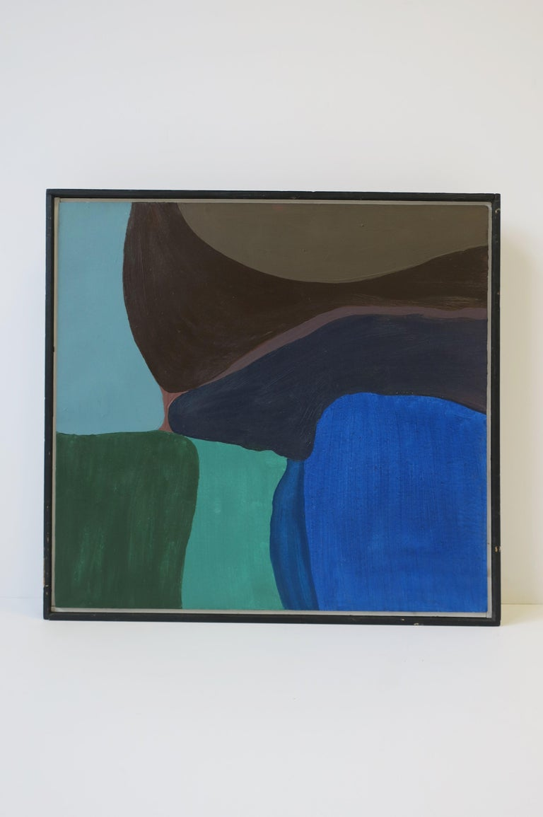 Abstract Oil Art Work Painting 'Warm Way' by Steven Dahlstrom, circa 1980s In Good Condition For Sale In New York, NY
