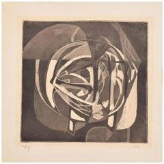 Abstract Artwork by Rodolfo Nieto Lithograph Etching Signed Pencil Edition 7/10