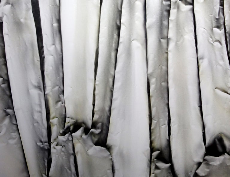 Canvas Abstract Black and White Contemporary Painting