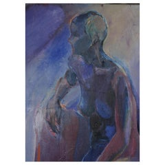 Abstract Blue Nude by Issoko Kato
