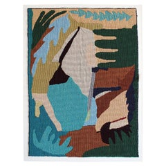 Abstract Botanicals Woven Tapestry Wall Hanging Artwork