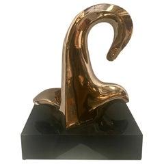 Abstract Brass Sculpture by Rosenwasser