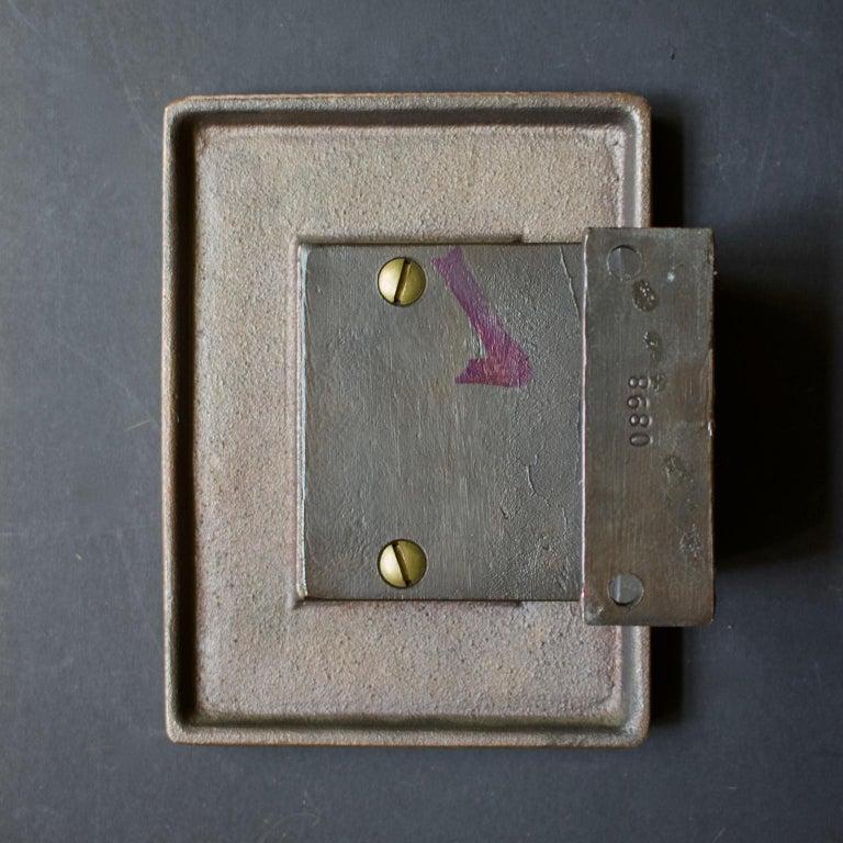 Abstract Bronze Door Handle & Escutcheon 'Unused', 1960s In Good Condition For Sale In London, GB