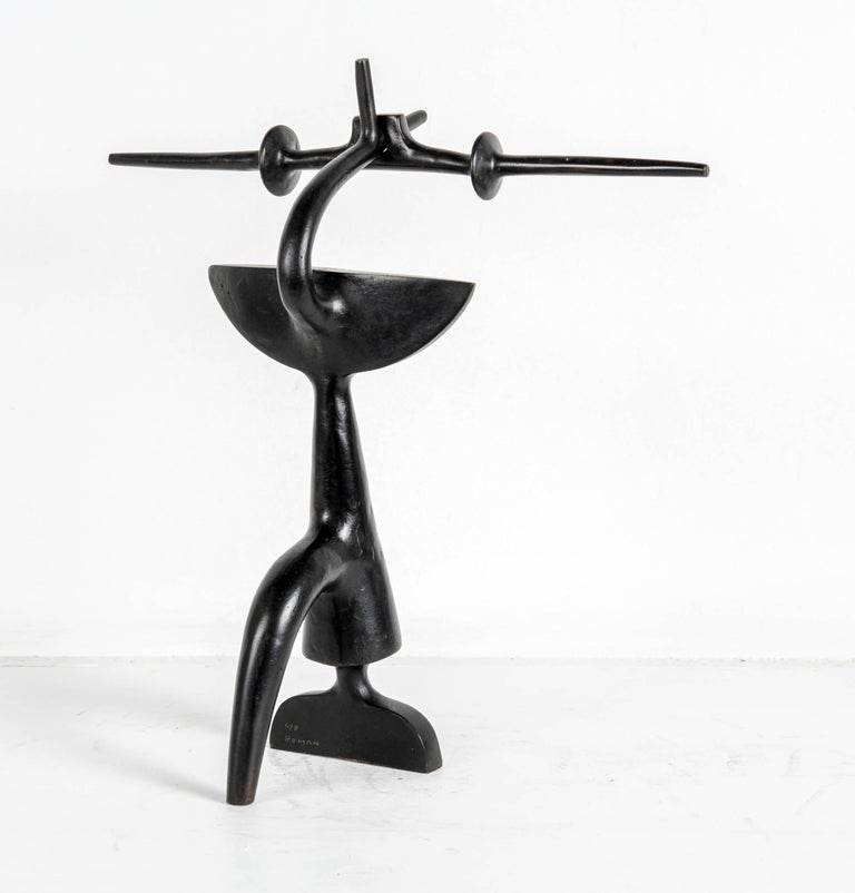 Late 20th Century Abstract Bronze Sculpture by Victor Roman For Sale