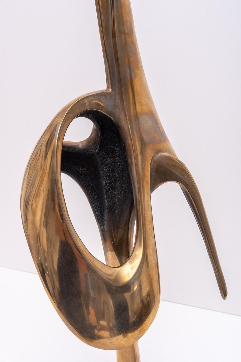 Abstract Bronze Sculpture For Sale 2