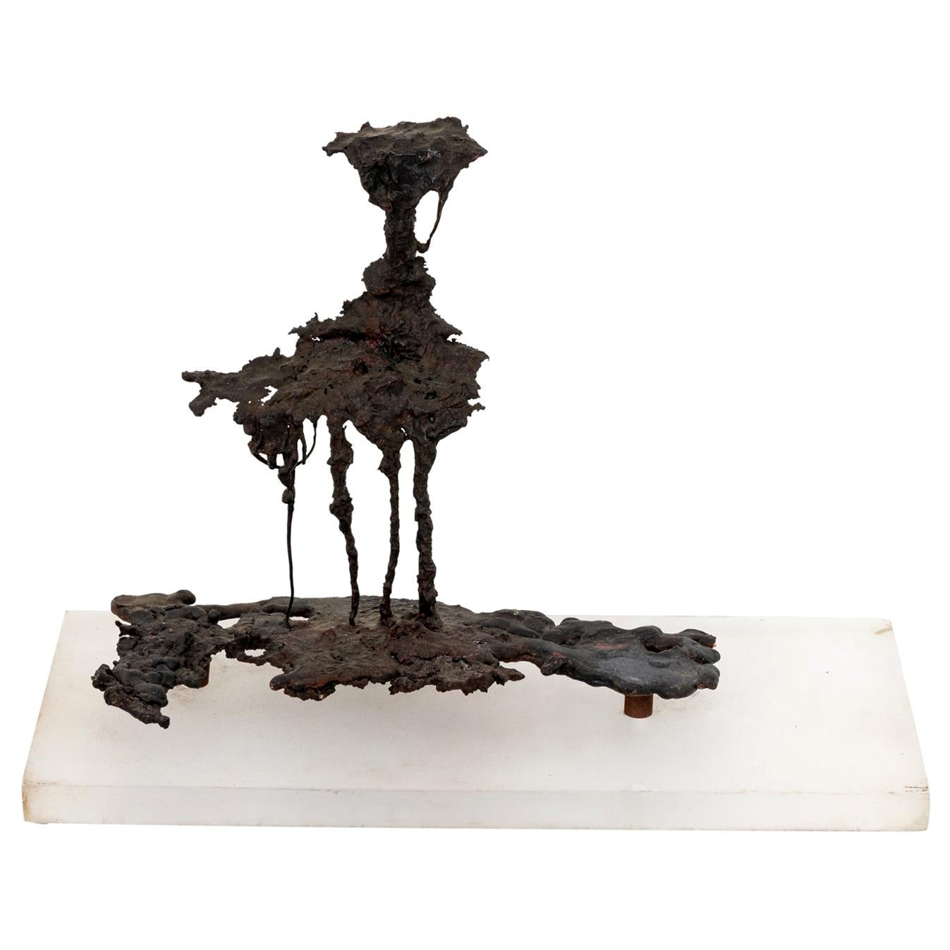 Abstract Bronze Spill Cast Sculpture