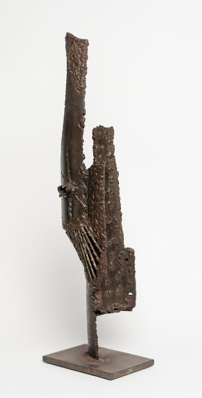 Abstract Brutalist Bronze Sculpture by G. Lachapelle In Good Condition In Montreal, QC