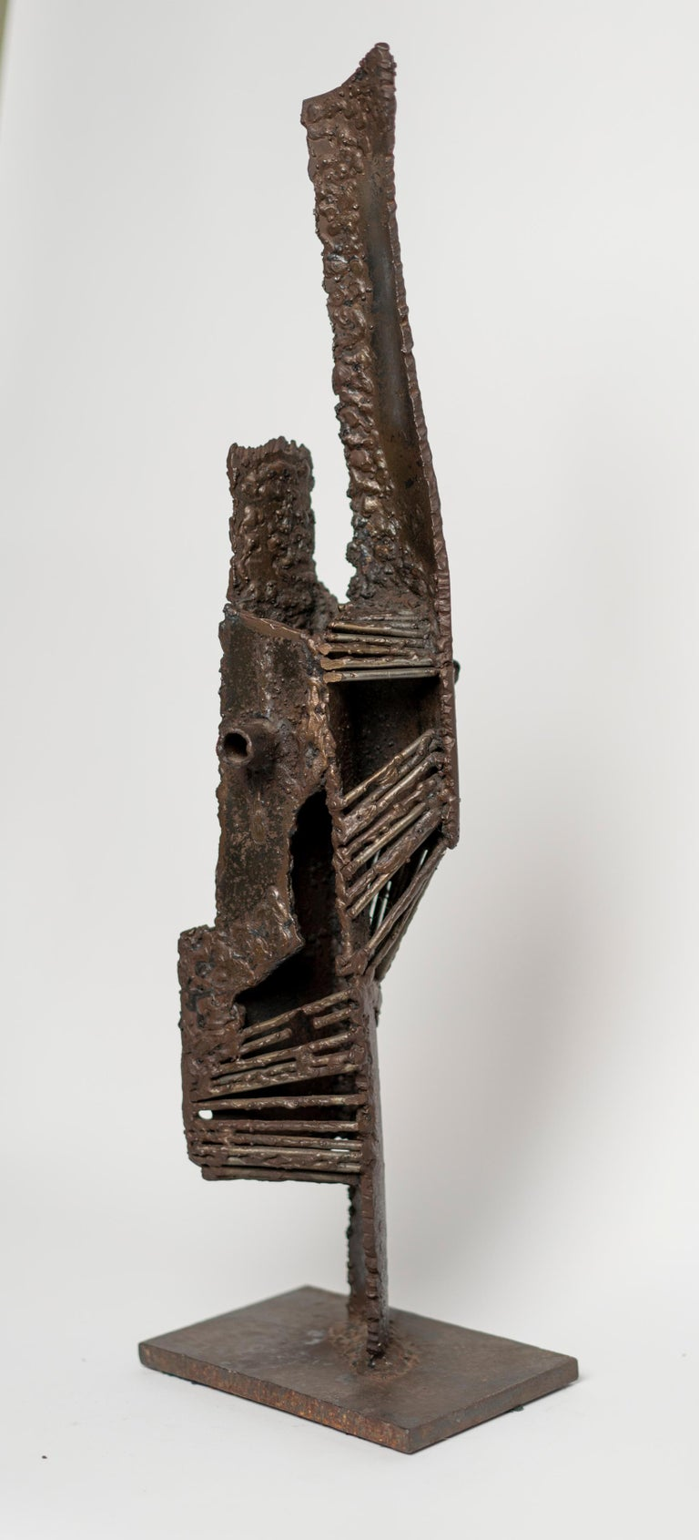 Mid-20th Century Abstract Brutalist Bronze Sculpture by G. Lachapelle