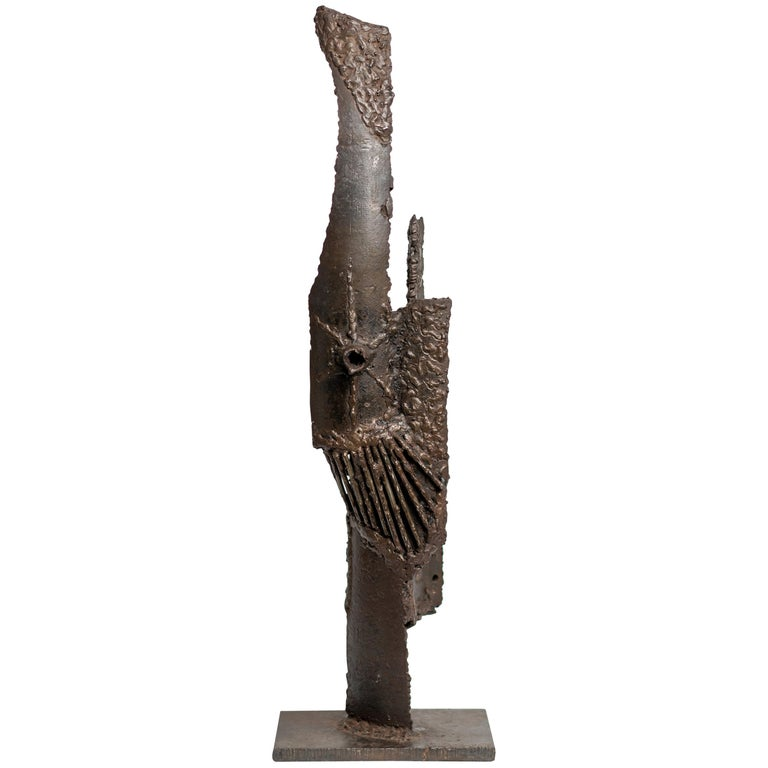 Abstract Brutalist Bronze Sculpture by G. Lachapelle