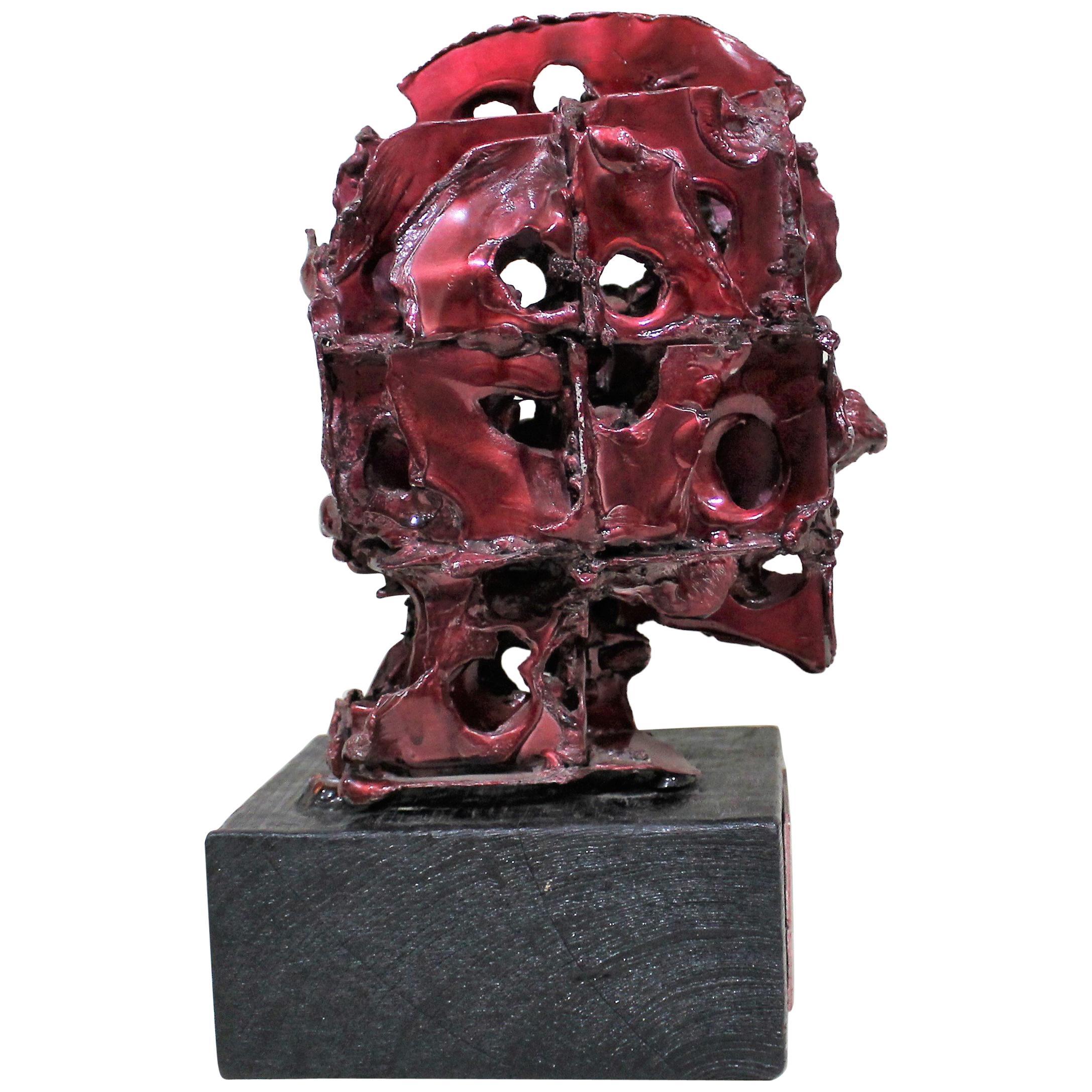 Abstract Brutalistic Metal Sculpture