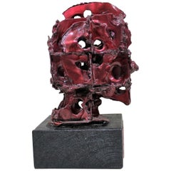 Abstract Brutalistic Metal Sculpture