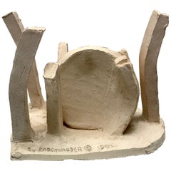 Abstract Ceramic Sculpture by Seymour Rosenwasser, 1991