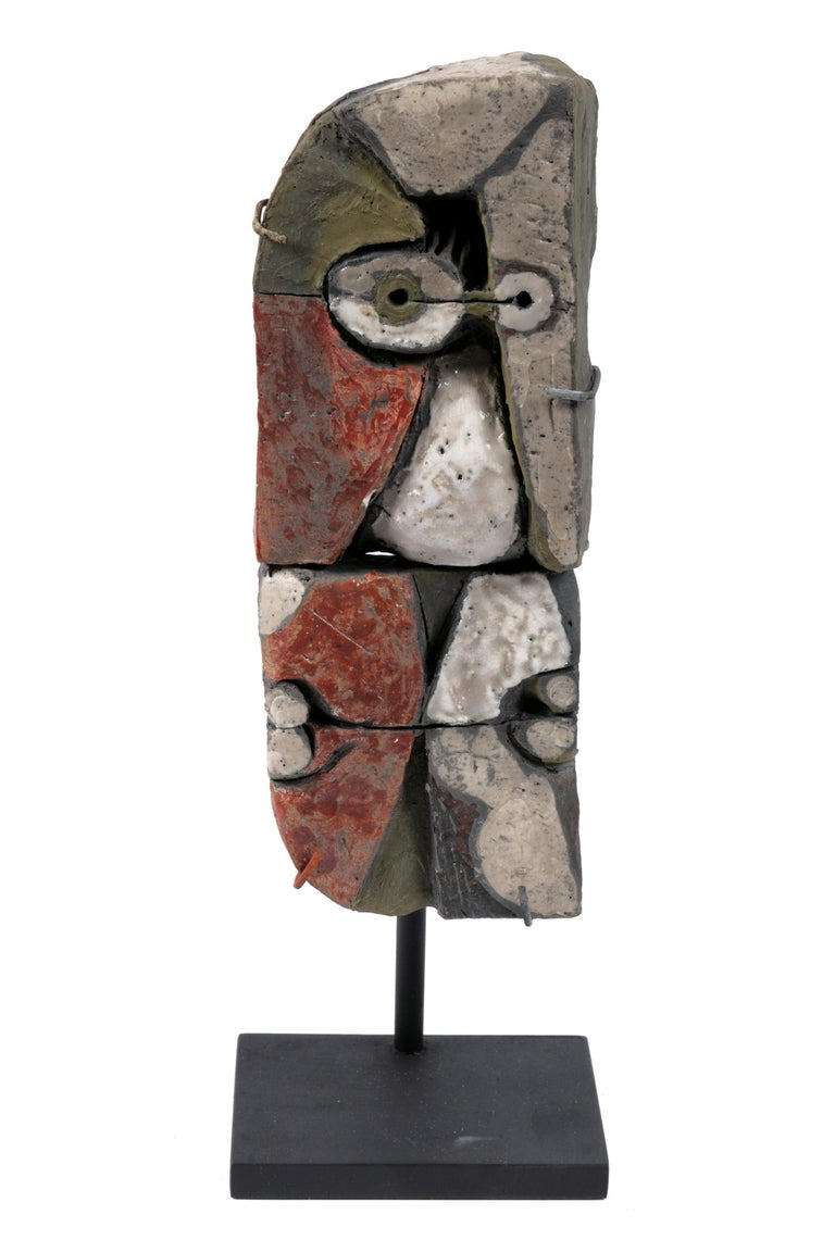 Late 20th Century Abstract Ceramic Sculptures, France 1990s For Sale