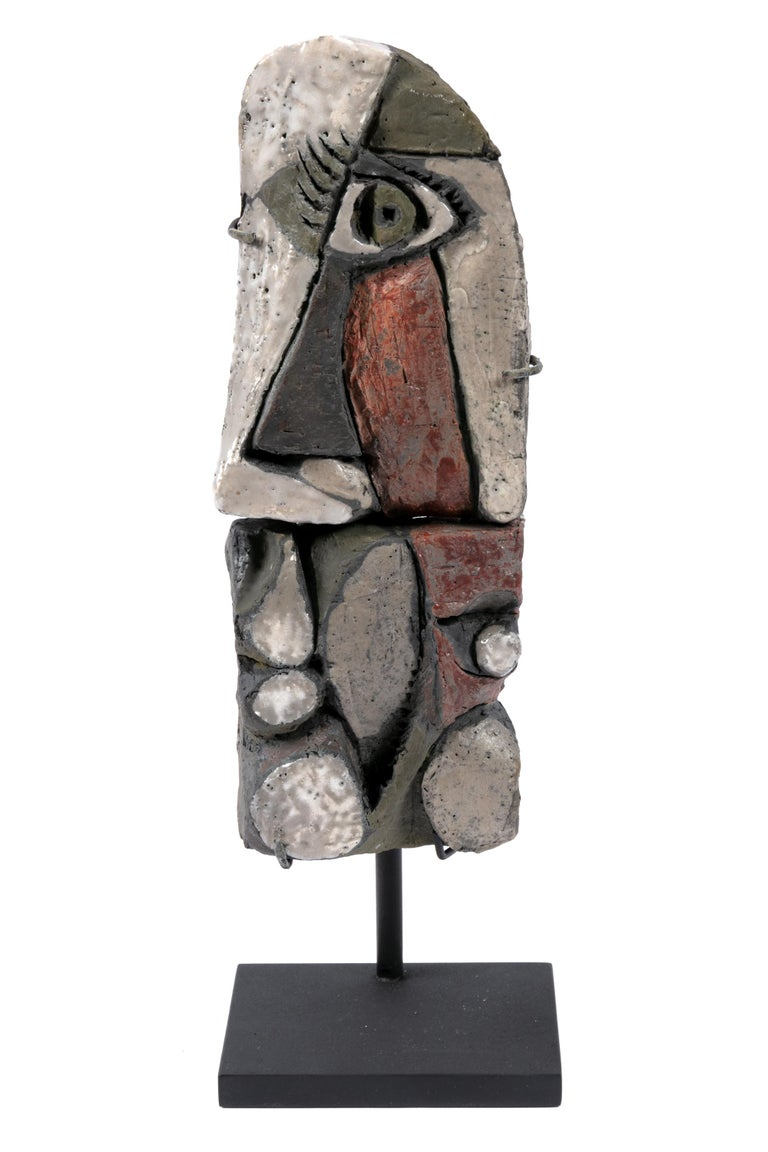 Abstract Ceramic Sculptures, France 1990s For Sale 2