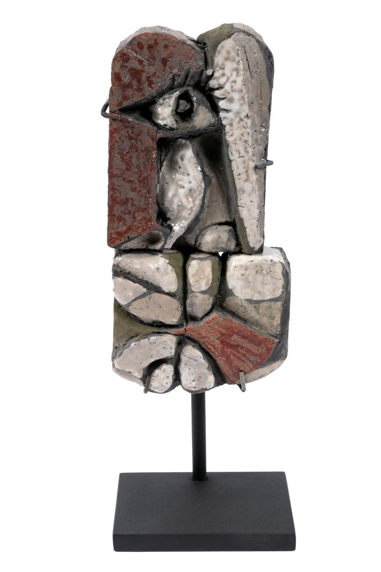 Abstract Ceramic Sculptures, France 1990s For Sale 3