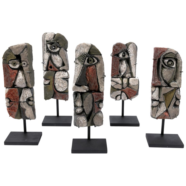 Abstract Ceramic Sculptures, France 1990s For Sale