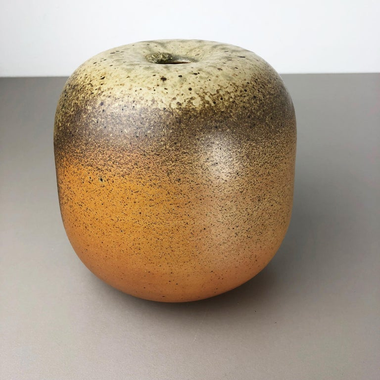 Mid-Century Modern Abstract Ceramic Studio Pottery Vase Object Horst Kerstan, Kandern Germany 1980s