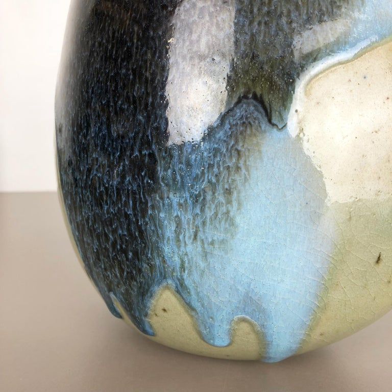 Abstract Ceramic Studio Stoneware Vase by Gotlind Weigel, Germany, 1960s For Sale 6
