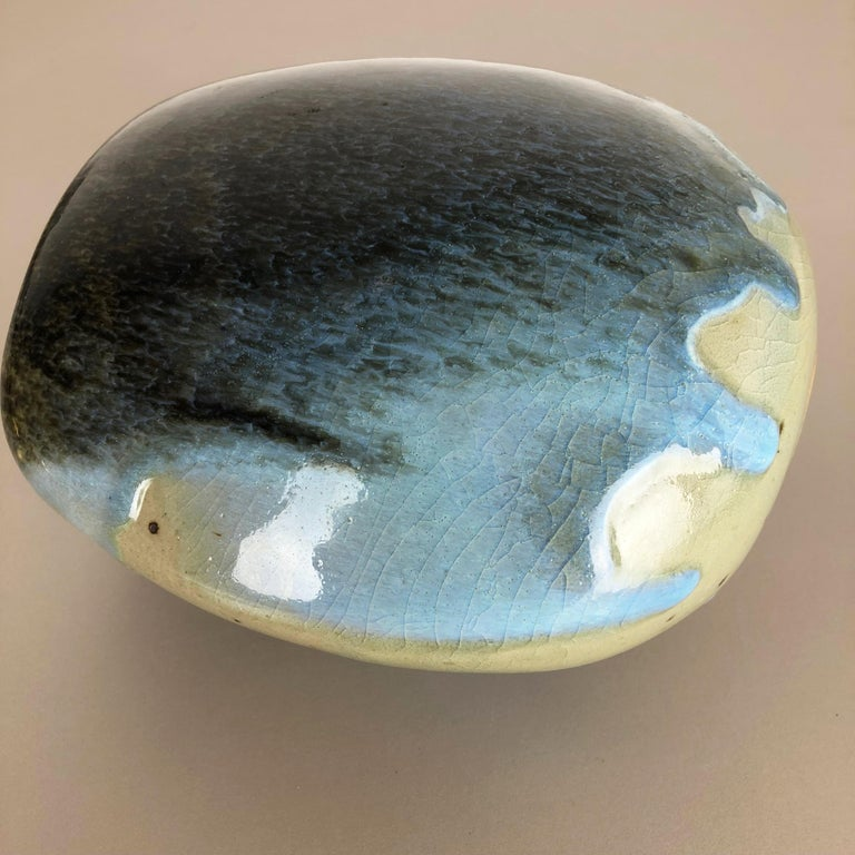Abstract Ceramic Studio Stoneware Vase by Gotlind Weigel, Germany, 1960s For Sale 11