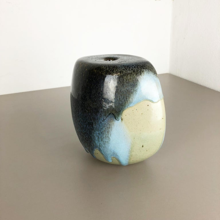 20th Century Abstract Ceramic Studio Stoneware Vase by Gotlind Weigel, Germany, 1960s For Sale